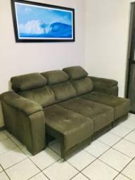 Sofá 3 lugares retrátil e reclinável
