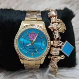 Relógio feminino original Malotty luxo lindíssimo