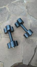 Par de halteres de 15kg pesos para musculação