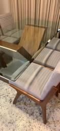Joga Mesa de Jantar ! 6 cadeiras ! 2x1m !