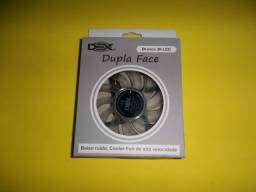 Cooler Dupla Face p Gabinete 120mm com LED Branco Dex - DX-12D