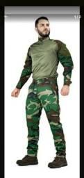 Título do anúncio: Kit de calça e camisa para AIRSORFT  pescaria.