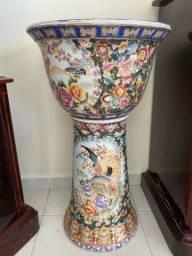 Conjunto de jarro e pé porcelana chinesa