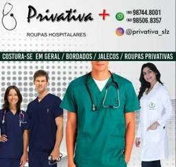 Privativa roupas hospitalares