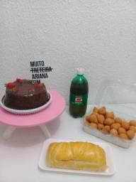 kit com bolo vulcão para o dia dos Namorados