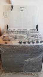Título do anúncio: Fogão Brastemp 5 Bocas de Embutir Inox com timer e forno elétrico, modelo BYS5T