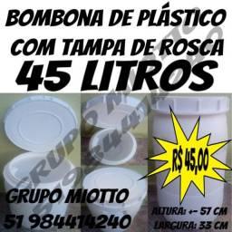 Bombona 45 Litros de plástico com Tampa de Rosca