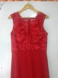 Vestido Vermelho Longo de Festa