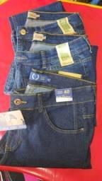 Calças skinny jeans.