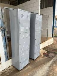Armário de aço 3 portas usado (valor imperdível)