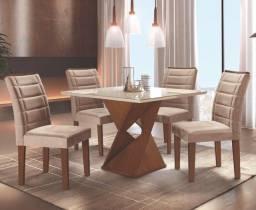 Promoção de Agosto - Mesa de jantar Canyon - 4 Cadeiras
