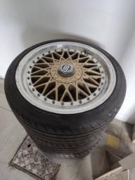 Rodas aro 17 bbs com pneus