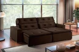 Título do anúncio: Sofá Retrátil Reclinável Pillow Marrom 2M