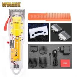 Título do anúncio: Promoçao Máquina de cortar cabelo transparente Wmark NG-108 para Barbeiro Profissional