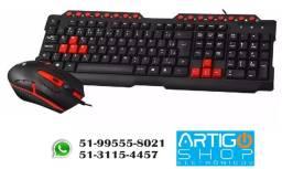 Título do anúncio: Kit Gamer Teclado E Mouse Usb Gk-20 C3tech