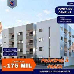 Título do anúncio: Apartamento para Venda em Cabedelo, Ponta de Campina, 2 dormitórios, 1 suíte, 2 banheiros