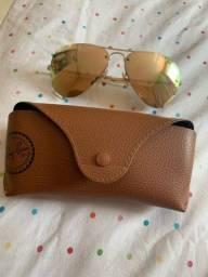 Óculos Ray Ban original dourado
