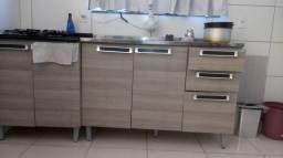 Pia completa e palcão com cooktop