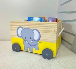 Caixa Baú Toy Box Organizador De Brinquedos De Elefante
