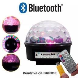 Globo Bluetooth Luz De Festa Rgb Pen Drive Controle Remoto