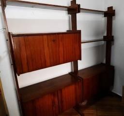 Estante de madeira/jacarandá - raridade