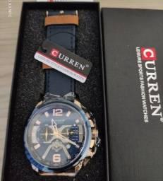 Relógio De Luxo Curren Original À Prova D'água Cor Azul