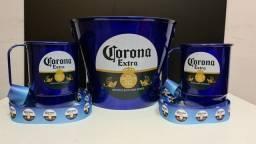 Kit balde de gelo + canecas + tirantes