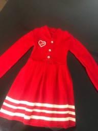 Vestido infantil novo 7-8 anos