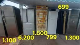 Geladeiras inox fros free super grande ou média
