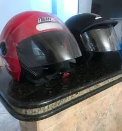 Título do anúncio: Vendo dois capacetes conservados por R$60,00 cada.