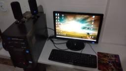 Computador 4Gb Ram Intel 3,3Ghz Monitor com acessórios