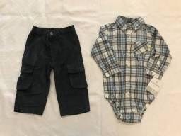Conjunto Camisa Manga Longa e Calça Carters - NOVO!