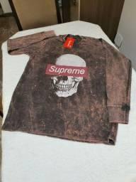 Camisa manga longa pré lavada da Supreme P