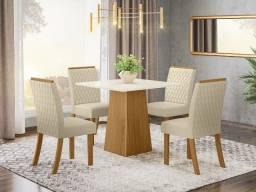 Título do anúncio: Mesa Nature Off White com 4 Cadeiras NOVA