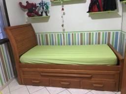 Bi cama de madeira maciça