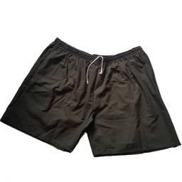 Shorts com elástico Plus Size Verde Exercito 5G
