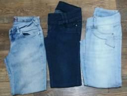 Calça Jeans Lote 3 pçs Para Brechó/Bazar No. 36 e 40<br>Todas bom estado