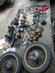 Yamaha DT 180 e RX 180,lote de peças
