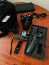 Título do anúncio: BAZAR DE EQUIPAMENTOS - Osmo, estabilizador, câmera, relógio, flash