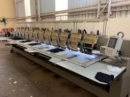 Maquina de bordar industrial de 12 cabeças