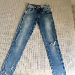 Calça jeans claro lycra
