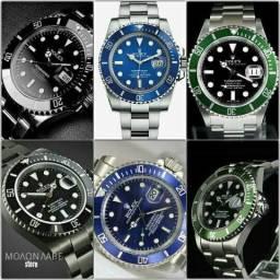 f04872506dd Relógio de Aço Rolex Oyster Perpetual Submarine + Caixa Rolex