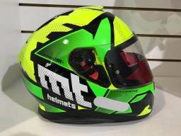 Capacete MT Thunder 3 Torn Yellow - Green