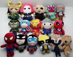 Pelúcias Vingadores Marvel Homem Aranha Super homem Capitão America Hulk