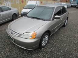 Honda civic sed 36x739 sem entrada lx 1.7 aut completo 2003 - 2003