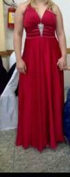 Vendo vestido de seda vermelho 400,00