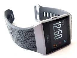 Relógio smartwatch fitbit ionic cinza azul