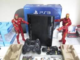 Playstation 3 super slim com 500 gb na caixa!
