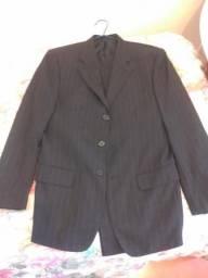 Terno e calça pretos com risca (40 cm de cintura)