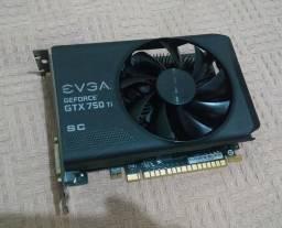Placa de Vídeo Geforce GTX 750TI SuperClocked 2gb DDR5 - 128 Bits EVGA 02G